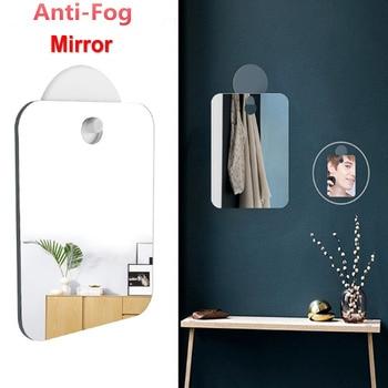 Acrylic Anti-Fog Shower Mirror Fogless Shaving Shave 13*17cm Bathroom Washroom Travel For Man