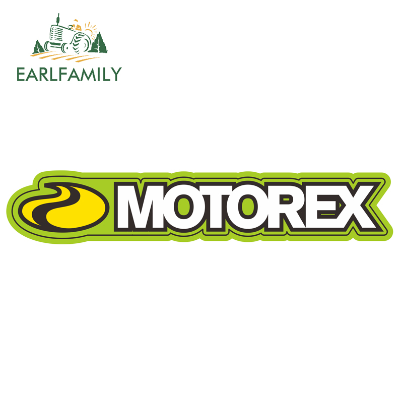 EARLFAMILY 15cm X 2.8cm For MOTOREX Vinyl Decal Personality Car Bumper Window Decoration Car Sticker Waterproof Car Accessories