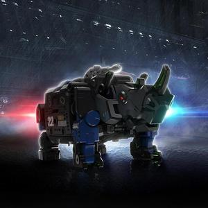Image 2 - XIAOMI MIJIA 52TOYS Beast Series Plan  Blue armor special police model Toy action figure Deform Robot 5cm Cube Childrens Gift