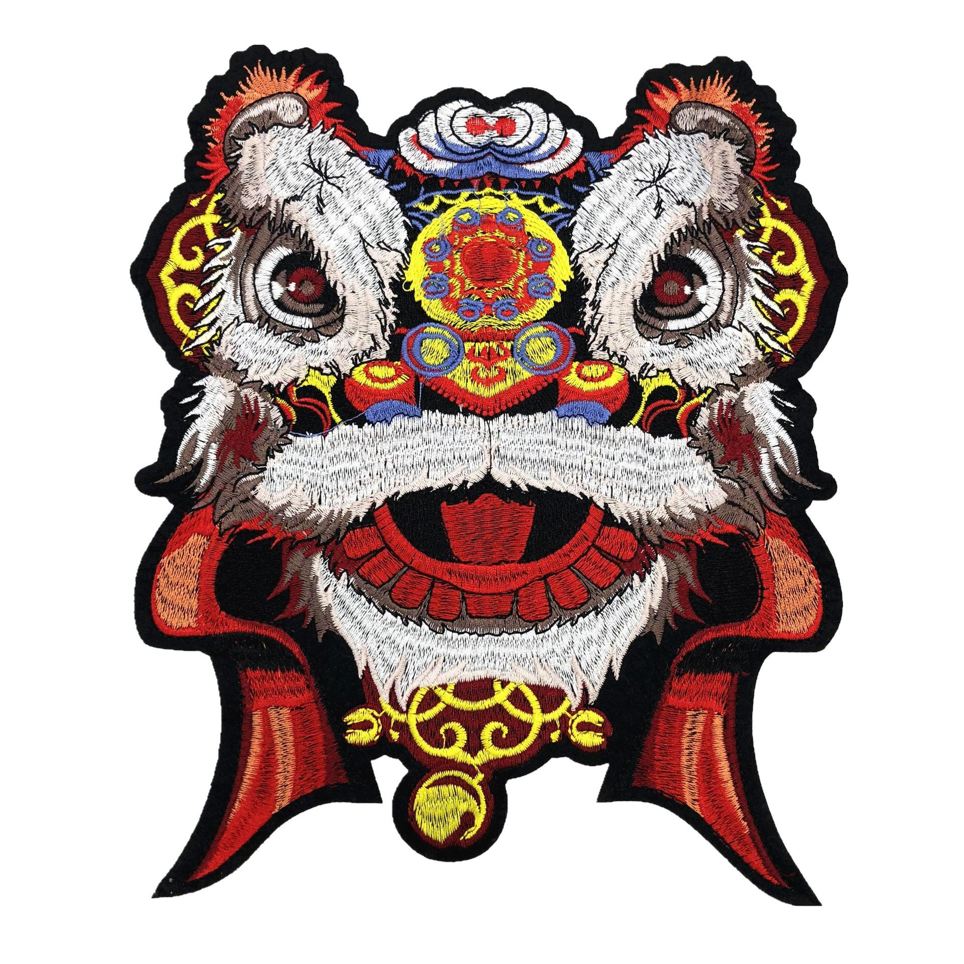 3d Chinese Lion Head Embroidered Pattern Patch DIY Clothing Accessory Used In Clothing, Skirts, Coats