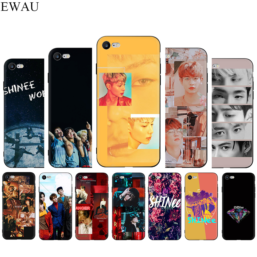 SHINee KPOP <font><b>Boy</b></font> group Silicone phone <font><b>case</b></font> <font><b>for</b></font> <font><b>iphone</b></font> <font><b>5</b></font> 5s SE 2020 6 6s 7 8 Plus X XR XS 11 Pro Max image