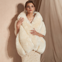 2019 Women Bolero Bridal Shawl Faux Fur Wrap Bolero Wedding Cape Bridal Shawl Fur Cape 2018 Winter Ivory Bridal Cloak Bolero