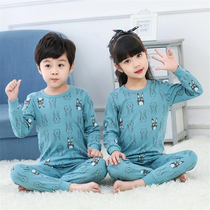 Cotton Kids Pajama Set Cute Animal Cartoon Children Pijama Infantil Sleepwear Baby Boys Girls Clothes Unicorn Onesie Pyjamas Set image