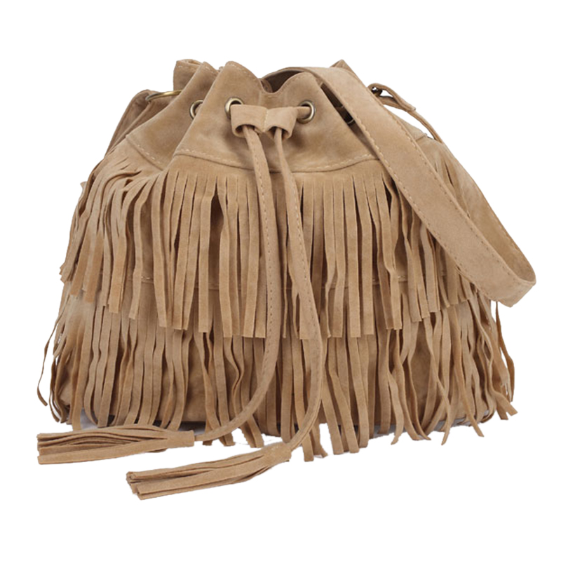 Retro Faux Suede Fringe Women Messenger Bags Tote New Handbag Tassel Shoulder Handbags Crossbody Bag 2020