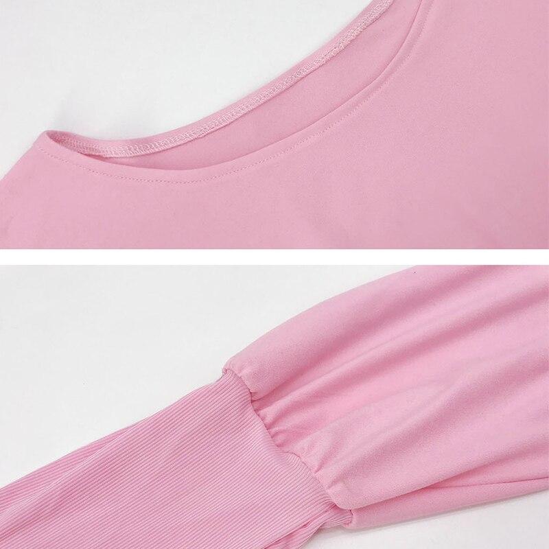 Autumn Slim Long Pink Knitted Dress Women Winter Solid Long Lantern Sleeve Bodycon Sweater Dress Sheath Party Vestidos 2020 Best Price F7c19 Cicig
