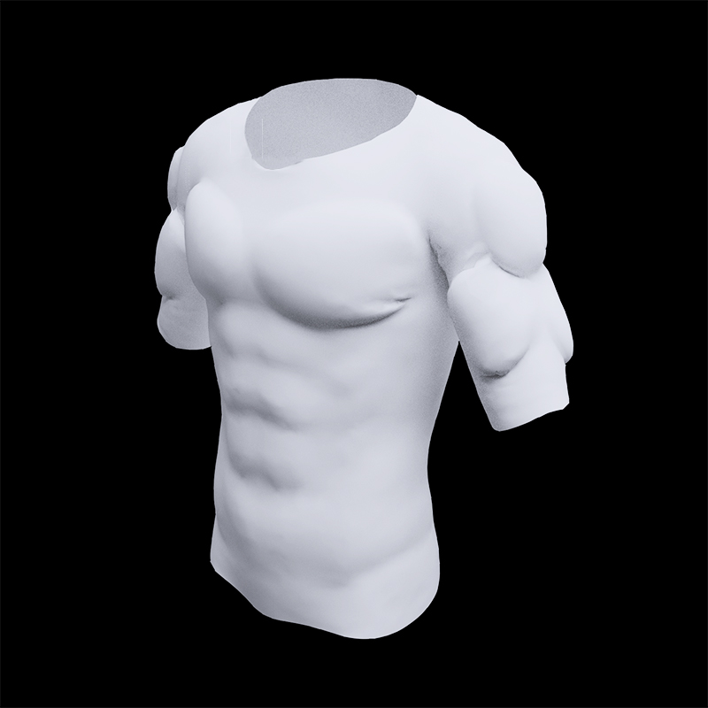 Men ABS Invisible Pads Shaper Fake Muscle Chest Tops Soft Protection Male Sponge Enhancers Undershirt