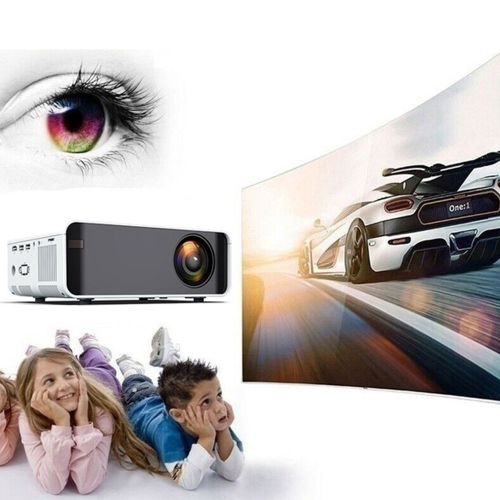 W80 HD home projector HDMI/AV/USB/SD/VGA support Dolby sound cable /wireless same screen version Projector for Home Cinema