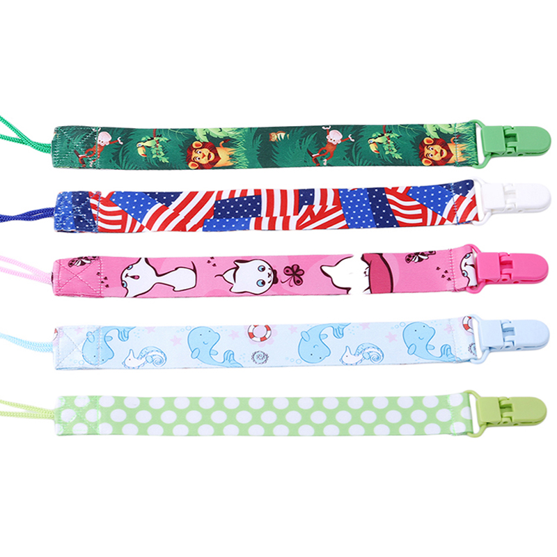 Baby Pacifier Clip Chain Infant Feeding Print Soother Chain Chupetas Nursing Nipple Holder Dummy Pacifier Clips Soother Holder