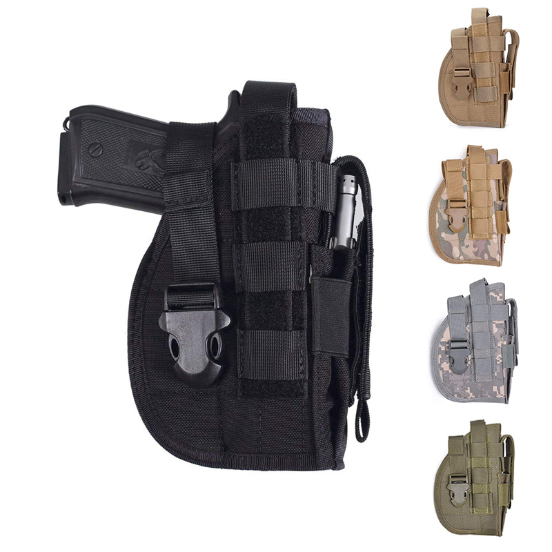 Universal <font><b>Holster</b></font> Airsoft Pistol Gun <font><b>Holster</b></font> for Glock 17 19 HK USP Makarov Colt <font><b>1911</b></font> CZ Shadow <font><b>Molle</b></font> <font><b>Holster</b></font> Right Hand Hunting image