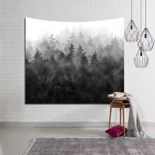 Fashion Wall Hanging Tapestry Foggy Mountain Forest Pattern Printed Cloth Tapestries Beach Throw Towel Home Decor Blanket