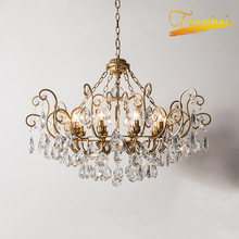 цена на modern crystal LED pendant lamp lighting Nordic light luxury floral pendant lights for LOFT hotel dining room living room lamps