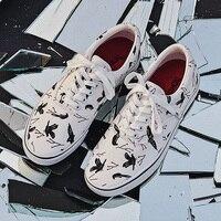 Новинка 2019 года; сезон весна-осень; классические белые кроссовки; мужская повседневная парусиновая обувь; летние кроссовки на плоской подош...