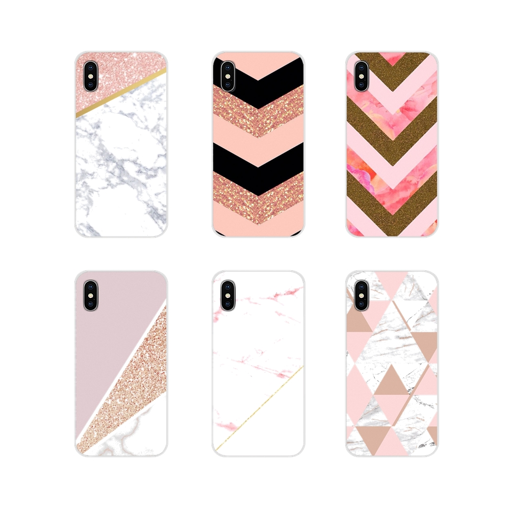 Accessories Phone Shell Covers For <font><b>Samsung</b></font> <font><b>A10</b></font> A30 A40 A50 A60 A70 <font><b>Galaxy</b></font> S2 Note 2 3 Grand Core Prime gold pink <font><b>marble</b></font> image
