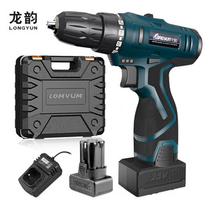 Image 1 - longyun 12V 16.8V 25V Adjust speed home Cordless Drill bit Electric screwdriver extra Battery Wrench with plastic box power tool