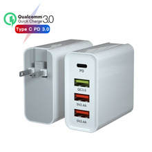 USB charger PD 65W Eu Us Plug Adapter QC3.0 Mobile Phone Charger for Portable Wall Mobile Fast Universal Travel AC Power Charger