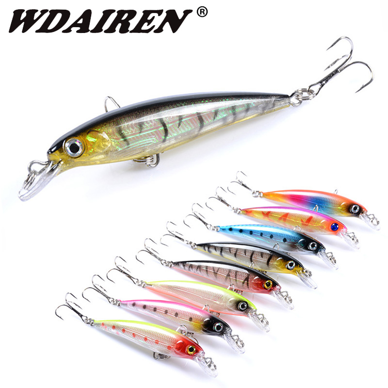 1Pcs Minnow Fishing Lure Laser Hard Bait 9cm 7.5g Floating Fishing Wobblers Crankbait 3D Eyes Swimbait Peche Fishing Tackle