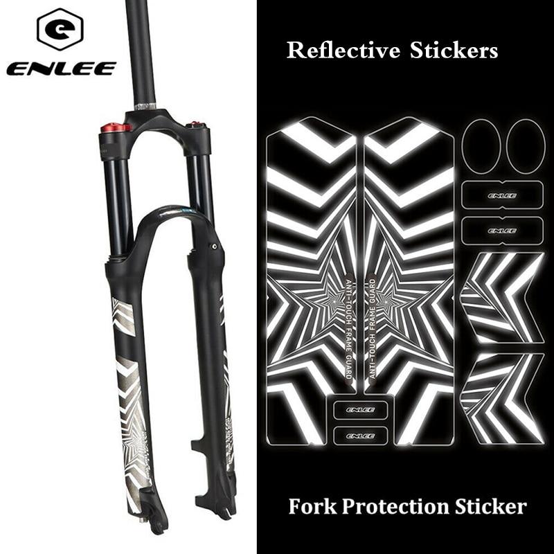 Enlee 3D Adesivi Riflettenti Mtb Bike Protect Forcella Adesivi Ripetere Pasta Anti-Skid Impermeabile Mountian Strada Accessori per Biciclette