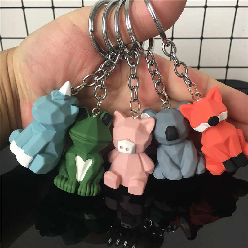 2019 New Creative Cute Cartoon men and women Key chain Metal Jewelry Animal Panda Key Chain Girls Bag Ornaments Accessories Gift