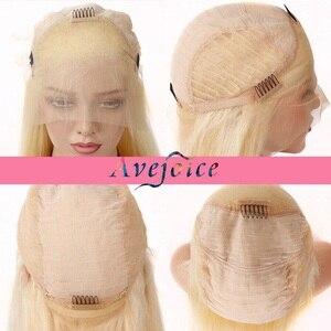 Image 5 - AVEJOICE karışık pembe renk dantel ön peruk ön koparıp Hairline brezilyalı vücut dalga İnsan saç peruk siyah kadın için yoğunluğu 150%