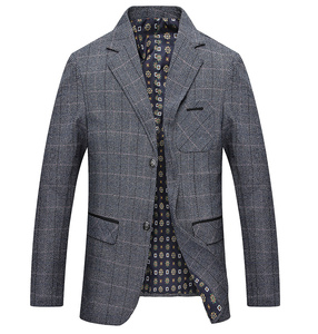 Image 2 - Mwxsd men casual woolen Suit Blazer jacket Mens Slim fit Suits Casual male blazer Suit Jacket blazer masculino homme