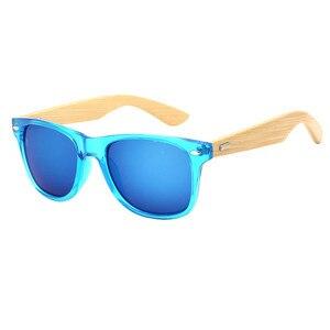 Bamboo Sunglasses Men Women Travel Goggles Sun Glasses Vintage Wooden Leg Eyeglasses Fashion Brand Design Sunglasses Male Female(China)
