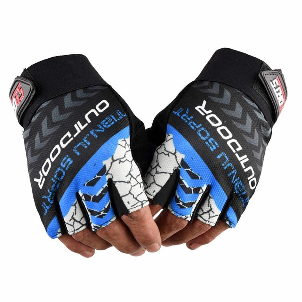 1 paire demi doigt gants de cyclisme anti-dérapant Gel vélo équitation gants anti-dérapant pour vtt route VTT gant Anti choc Sport