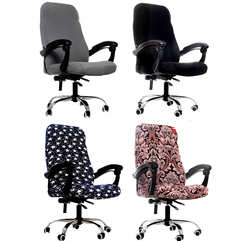 S/M/L Sizes Office Stretch Spandex Chair Covers Anti-dirty Computer Seat Chair Cover Removable Slipcovers For Office Seat Chairs 3