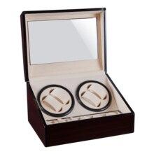 Автоматическая коробка для намотки часов, деревянная коробка для намотки часов, коробка для хранения часов, коллекция, дисплей, двойная головка, бесшумная коробка для двигателя