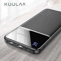Kuulaa power bank 10000 mah carregamento portátil powerbank 10000 mah usb poverbank carregador de bateria externa para xiaomi mi 9 8 iphone
