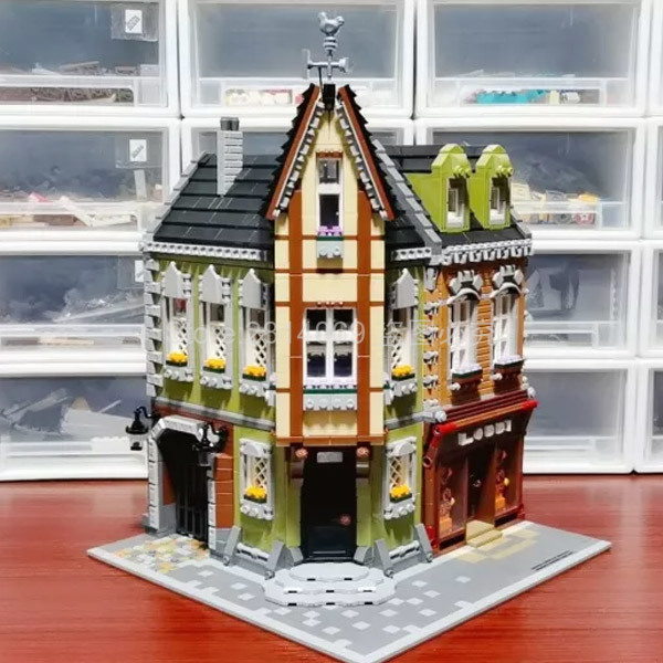 QL0919 Creator MOC City Stree View Series Corner Mall Building Blocks 3473pcs Bricks Toys Sets Compatible Creator