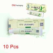 10 pces zudaifu psoríase creme de cuidados com a pele psoríase dermatite eczematoid tratamento de pomada eczema 15g