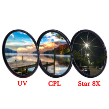 KnightX UV CPL ND Star line 4 6 8 ND2 ND1000 variable polarizer Macro dslr Lens Filter For canon nikon d5300 d3300 accessories