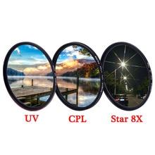 نايتx UV CPL ND ستار خط 4 6 8 ND2 ND1000 متغير المستقطب ماكرو dslr عدسة تصفية لكانون نيكون d5300 d3300 اكسسوارات