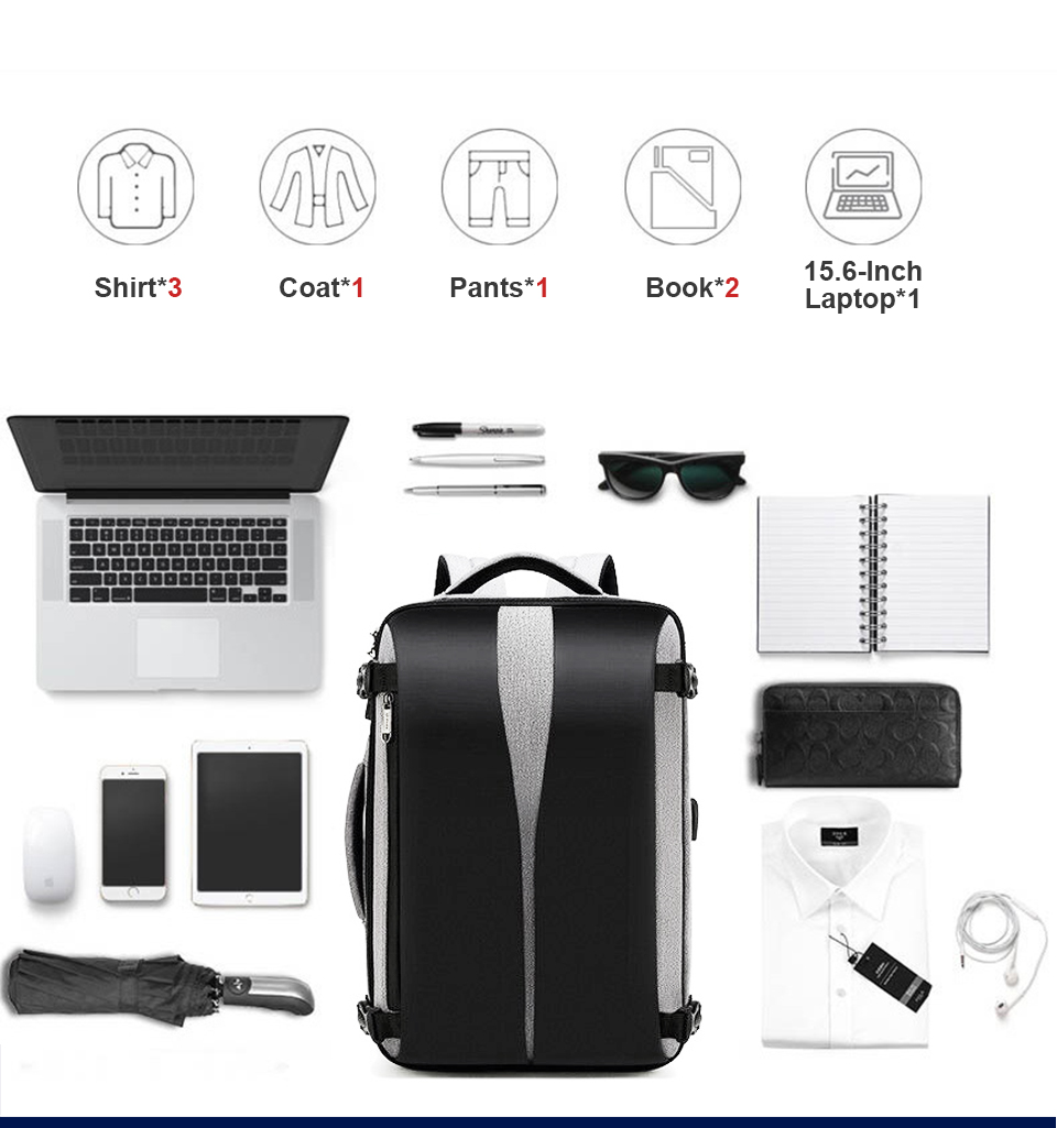 Men Backpack Anti Theft Travel Bagpack Laptop 15.6 Inch Notebook Waterproof Bags USB Charging Male Business Fashion Unisex Bag (5)