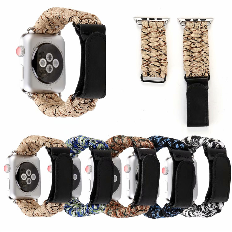 Suitable For APPLE Watch One Two Three Generation Universal 2018 New Style Foreskin Lazy Velcro Umbrella Rope Watch Strap