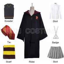 Hogwart Cosplay szaty Cosplay kostiumy hermiona garnitur dzieci dorosłych peleryna peleryna prezenty urodzinowe dla Harris kostium tanie tanio CN (pochodzenie) Wykop Spódnice Film i TELEWIZJA WOMEN Zestawy Kółka XHX-001 Poliester
