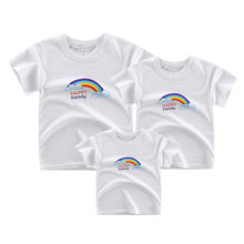 mother kids t shirts matching family outfits father mother son outfits mother and daughter clothes(China)