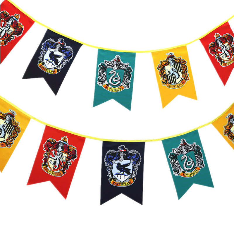 Halloween String Flag Harry Potter Banner Holiday Bunting Activity Site Decorative Hanging Flag Customizable