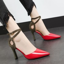 Spring/Autumn Sexy Women Shoes High Heel Pumps Thin Heels Pointed Toe Party Shoes Woman Fashion Buckle Strap Wedding Shoes byqdy wholesale girls spring sexy high heels women platform shoes peep toe pumps autumn wedding shoes women crystal pumps party