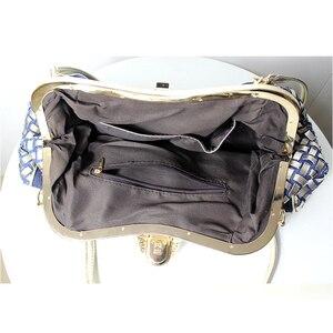 Image 5 - iPinee Ladies Handbags Women Fashion Bags Brand Design Women Shoulder Bags Denim Rhinestones Decorative