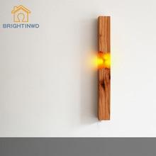 Новые креативные Настенные светильники ручной работы из смолы и цельного дерева, лампы для коридора, ночные светильники ручной работы, подарки