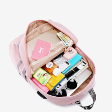 Women Waterproof Laptop Backpack Fashion Latter Cute Puppy School Bags For Teenager High Quality Large Medium Casual Travel Bag