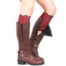 Эротичные кружевные женские манжеты для сапог гетры Защита ног