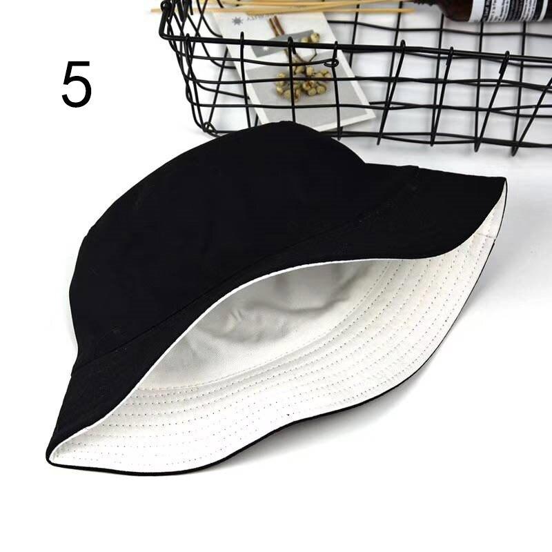 Зимняя двухсторонняя одежда, однотонные Панамы, уличные кепки, черно-белые рыболовные солнцезащитные кепки, Женская и мужская Кепка