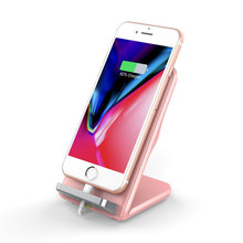 7.5W Qi Wireless Charger Stand with Cooling Fan Pink Quick Charger for Samsung Xiaomi Huawei for iPhone XS Max XR Plus for Women