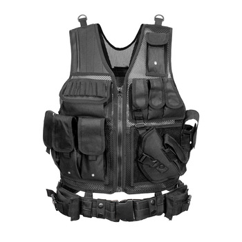 Tactical Vest Military Combat Armor Vests Mens Tactical Hunting Vest Army Adjustable Armor Outdoor CS Training Vest Airsoft 3