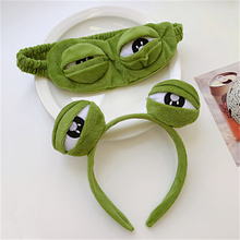 Sad Big-eyed Frog Spoof Fun Unisex Joyful Hair Accessories Interesting Personality Eye Mask Headband