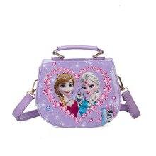 2019 new Disney cute cartoon handbags frozen Princess childrens Messenger bag girls small baby shoulder birthday gift