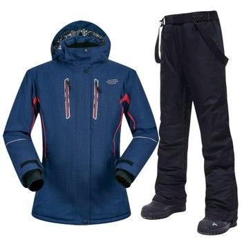 Ski Suit Women Winter Outdoor Sports Ladies Snow Windproof Waterproof Jacket Trousers Brands Snowboarding Suits