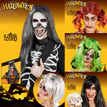 Fancy Dress Scene-Props Clown Wig Haunted House Witch Halloween Hair-Set Party-Decoration